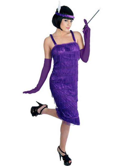 Roaring 20's Purple Flapper Costume