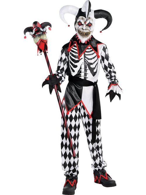 Sinister Jester Boy - Child and Teen Costume