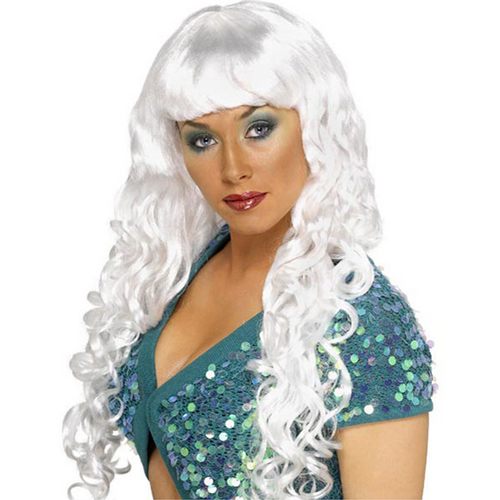 Siren Curly White Wig