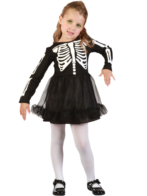 Skeleton Girl - Toddler Costume