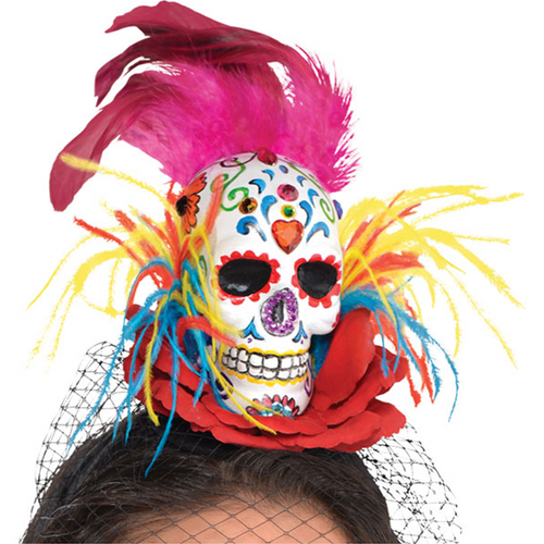 Sugar Skull Couture Headband - Women's Halloween Day of the Dead Headband