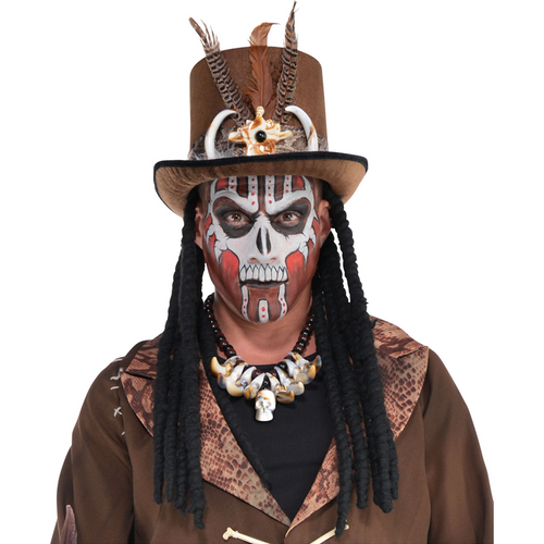 Witch Doctor Hat With Dreads