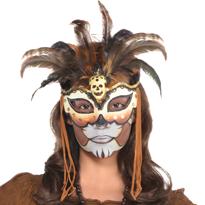 Witch Doctor Mask - Women's Halloween Mask