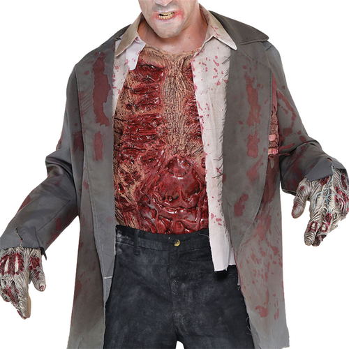Zombie Bloody Chest - Men's Halloween Accessory - Adult