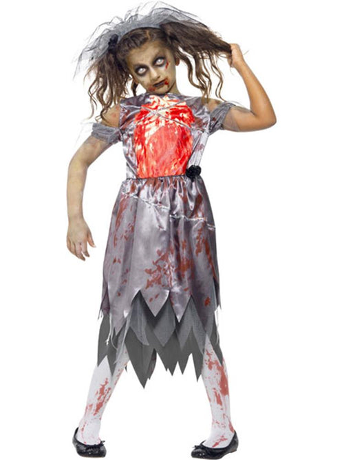Zombie Bride - Child & Teen Costume