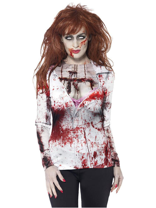 Zombie Female T-Shirt - Adult Costume