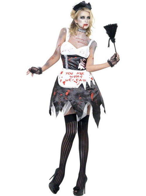 Zombie French Maid - Adult Costume