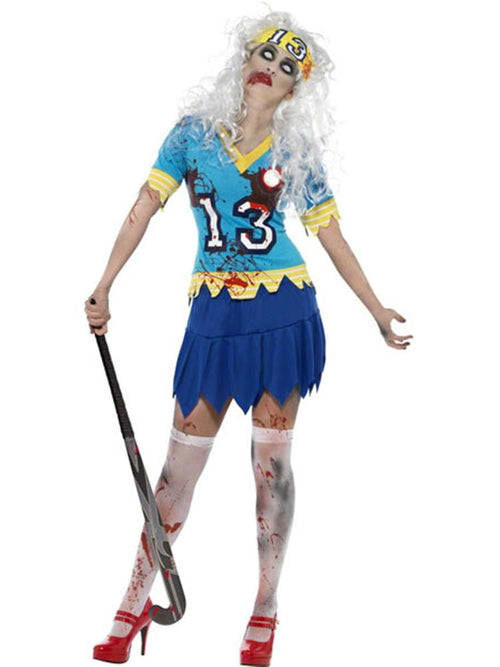 Zombie Horror Hockey Player - Adult Costume