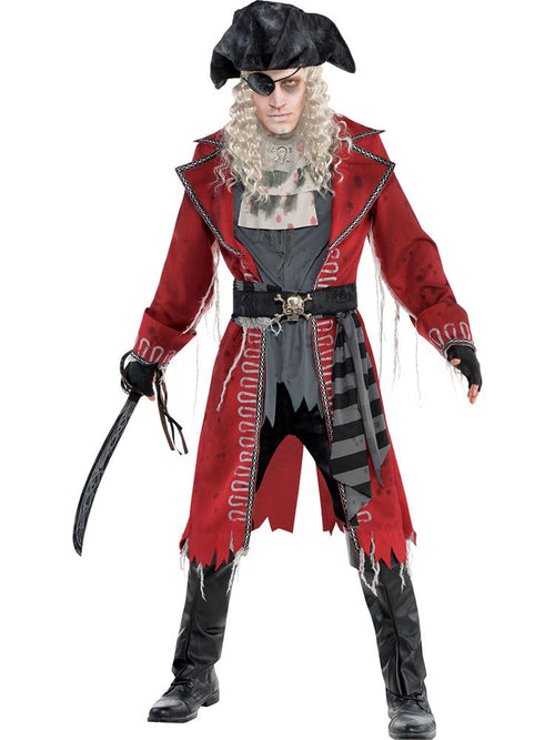 Zombie Pirate Captain - Adult Fancy Dress