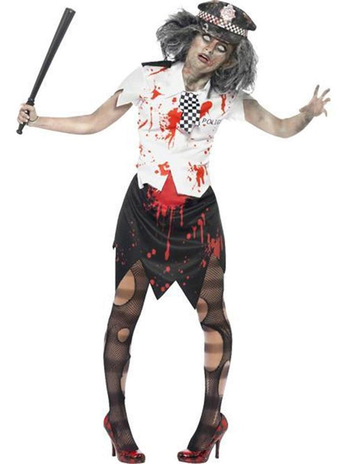 Zombie Policewoman - Adult Costume