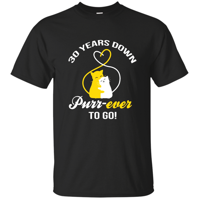 30th Wedding Anniversary T-Shirt Purr-ever Cat Gift