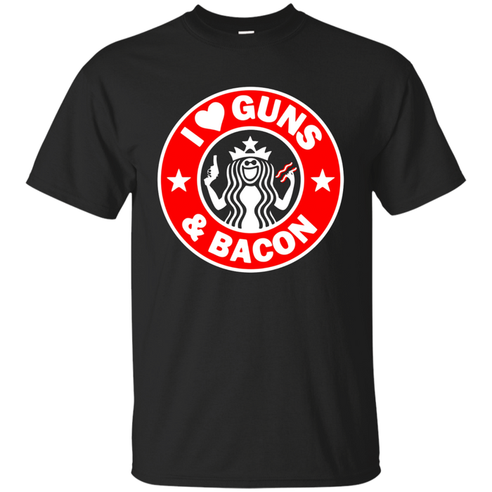I Love Guns And Bacon T-Shirt