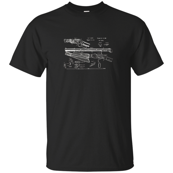 Henry Rifle Patent Drawing | 2nd Amendment Gun T-shirt