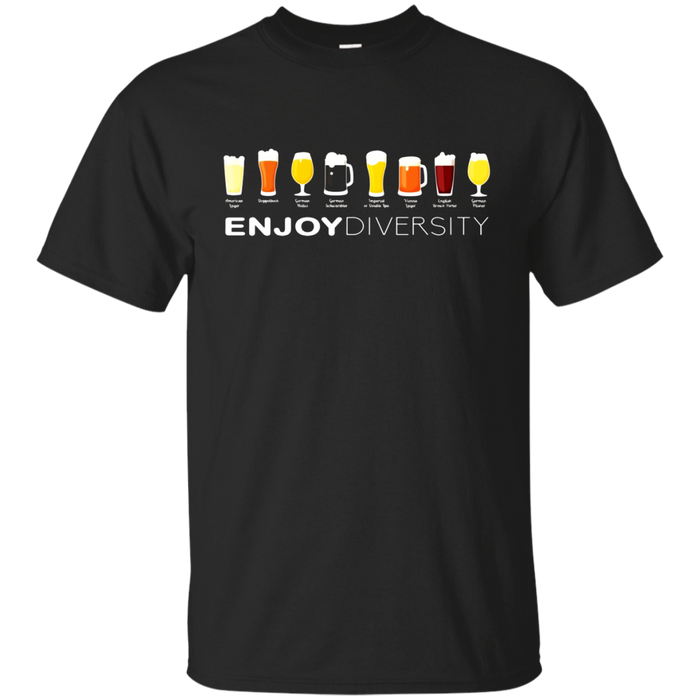 Enjoy Diversity T-shirt Celebrate Funny Drinking Beer Tee