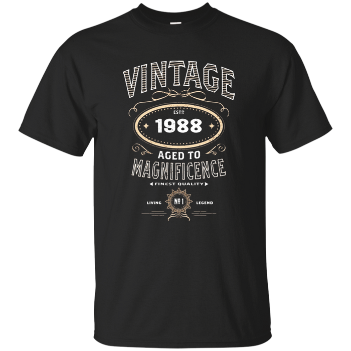 Vintage Aged To Magnificence 1988 30th Birthday Gift T-shirt