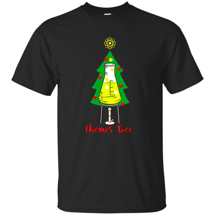 Chemis Tree Funny Science Chemistry Christmas Pun T-Shirt