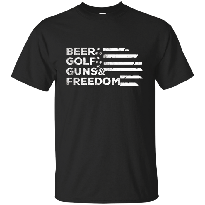 Beer Golf Guns Freedom t shirt