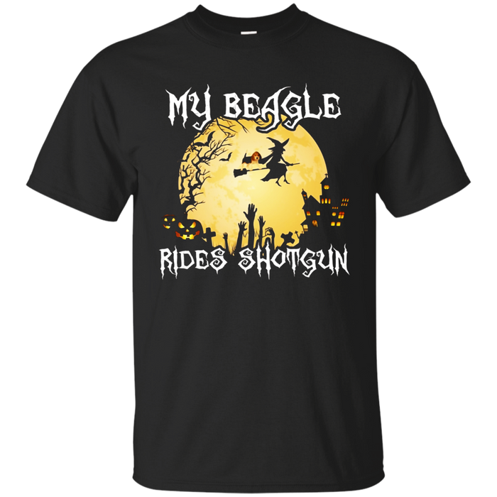 Halloween Costume - My Beagle Rides Shotgun Dog Lover Shirt