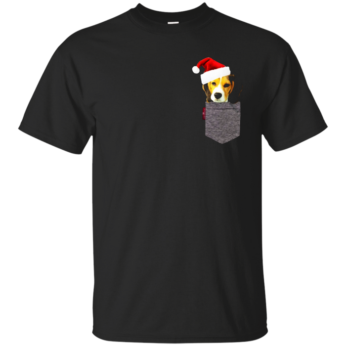 Funny Beagle in a Pocket Cute Christmas Tshirt