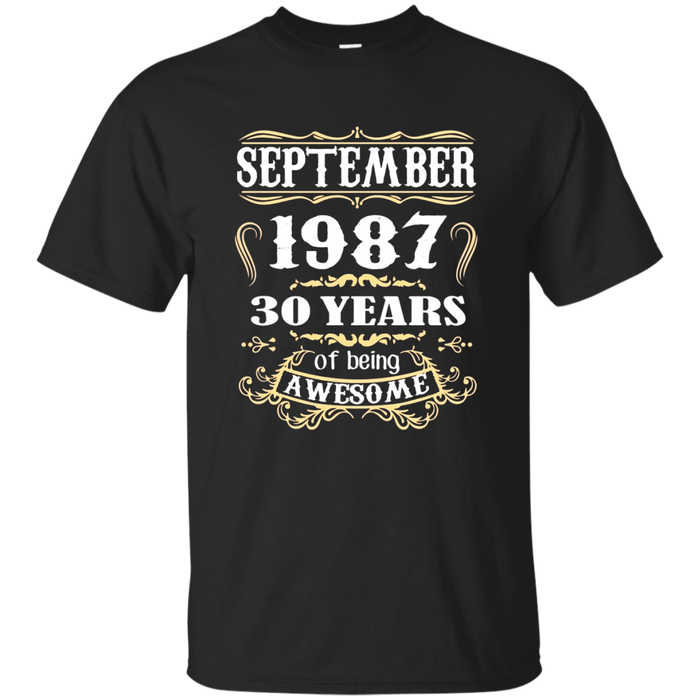 September 1987 - 30th Birthday Gifts Funny Tshirt
