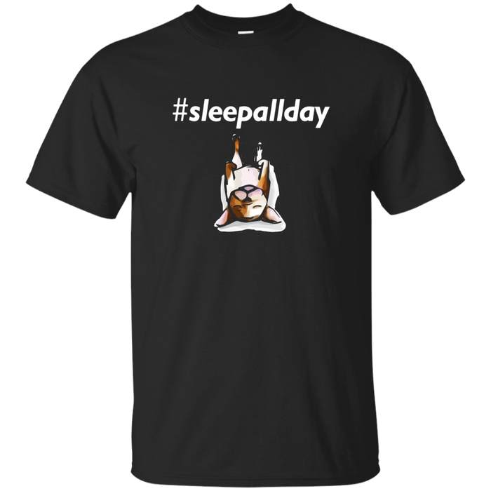 # Sleep All Day Funny French Bulldog Frenchie Dog Tee Shirts
