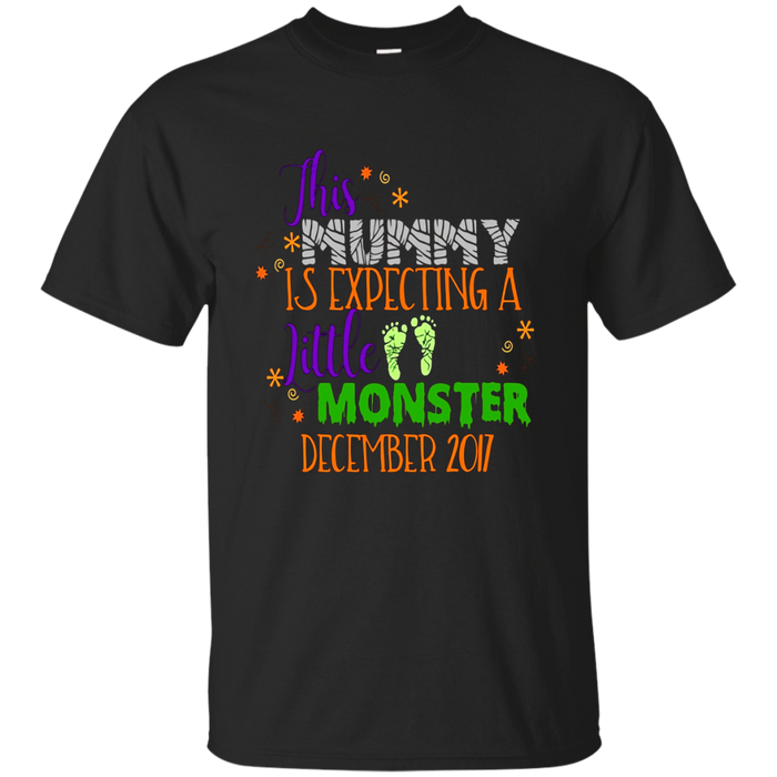 Halloween Pregnancy Shirt Mummy Monster Due December 2017