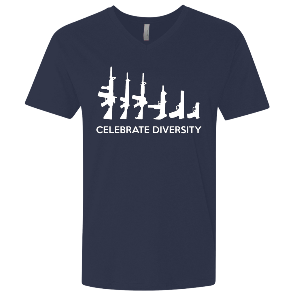 Funny 2nd Amendment CELEBRATE DIVERSITY GUN tshirt (gift)