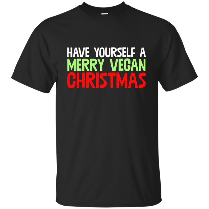 Have Yourself A Merry Vegan Christmas Vegetarian Pun T-Shirt