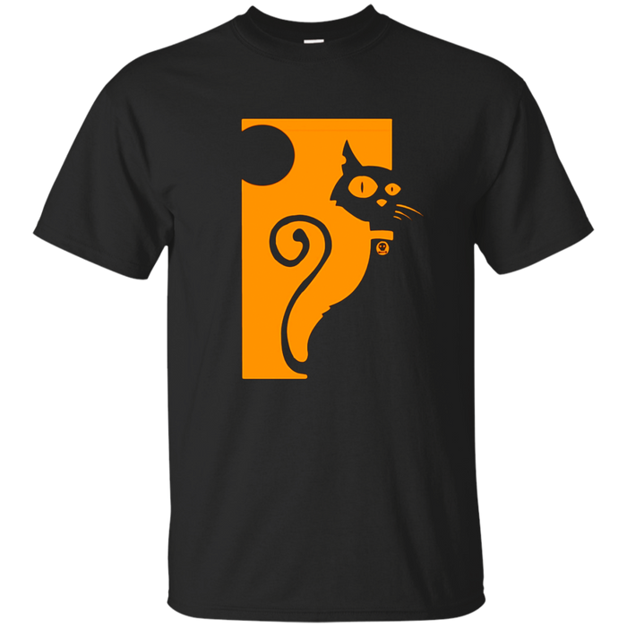 Artistic Black Cat Halloween T-Shirt