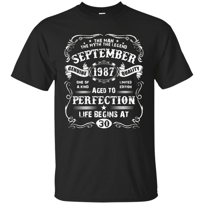 Mens The Legend September 1987 30th Vintage Birthday T-Shirt