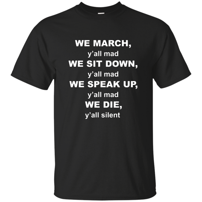 We March Black Lives Matter Protest T-shirt