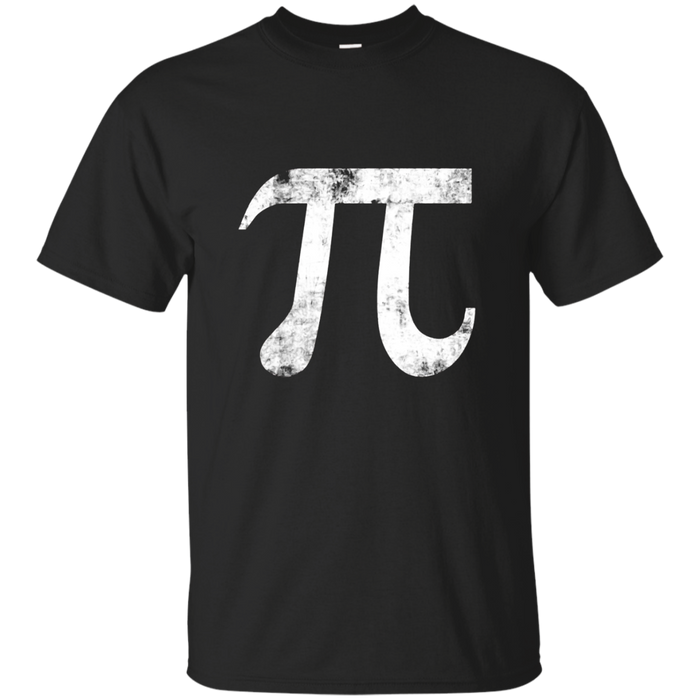 Pi Symbol T-Shirt 3.14 March Day Pie Cool Distressed Geek