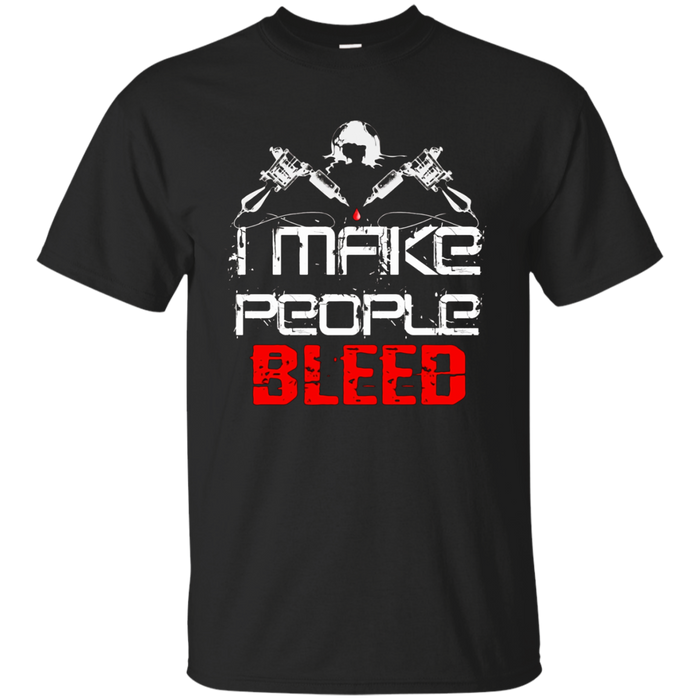 I Make People Bleed Funny Tattoo Artist T-Shirt Halloween