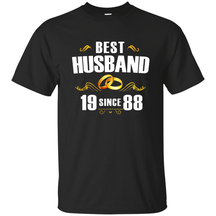 Best Husband Since 1988 T-Shirt 30th Anniversary Gift Tee