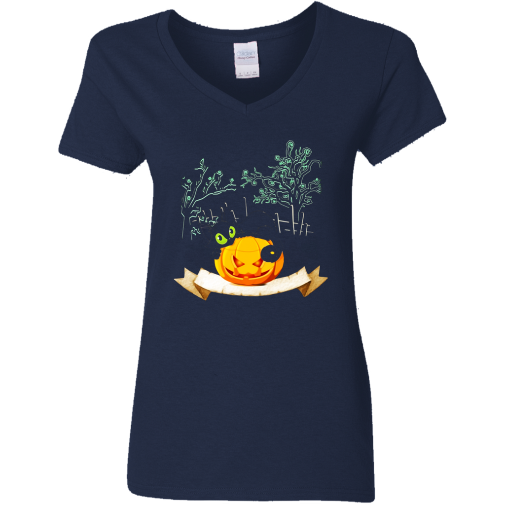 Happy Halloween Pumpkin Cat T-Shirt