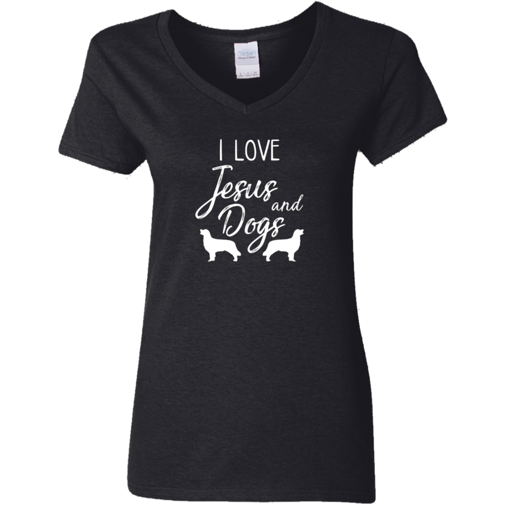 I Love Jesus And Dogs T-Shirt - Christian Gift