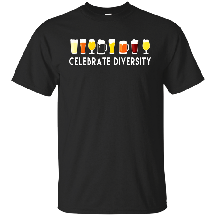 Celebrate Diversity Funny Parody Beer Drinking T Shirt