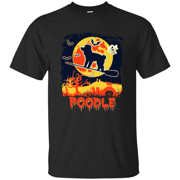 Vintage style poodle Halloween shirt
