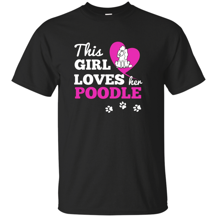 This Girl Loves Her Poodle Dog Lover Christmas Gift T-Shirt