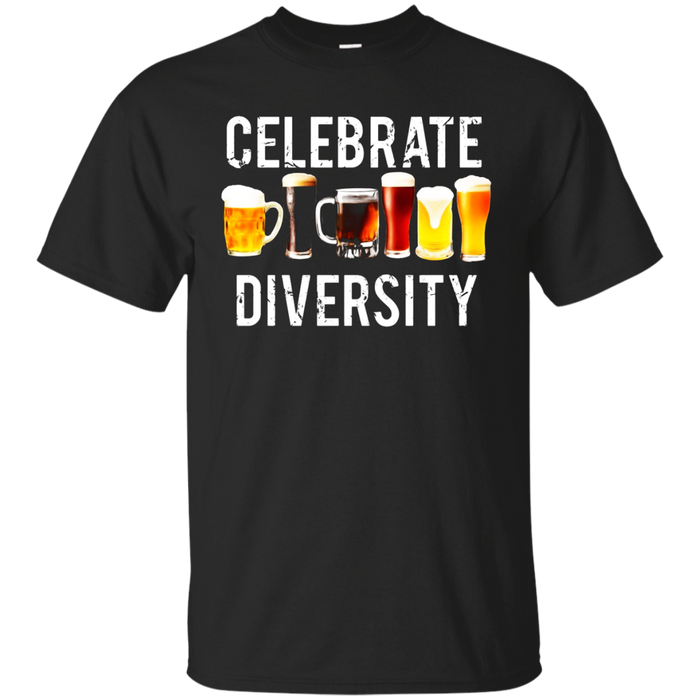 Celebrate Diversity T Shirt Funny Beer drinking humor tee