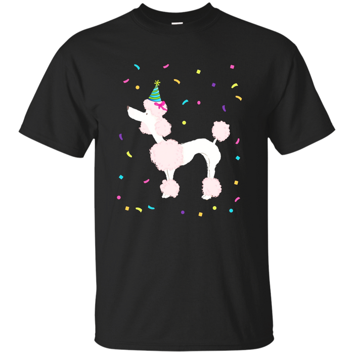 Cute Pink Poodle TShirt Birthday Standard Dog Gifts Party