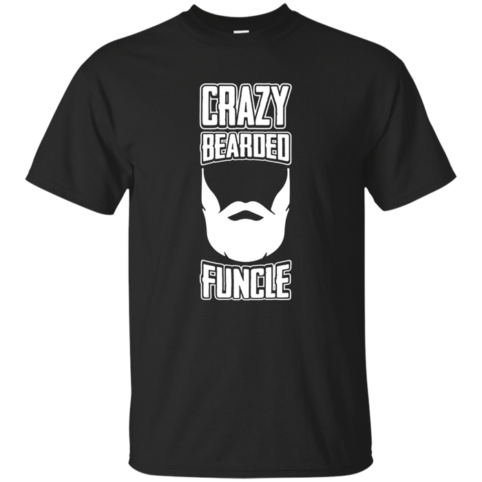Crazy Bearded Funcle T-Shirt - Funny Uncle Christmas Pun Tee