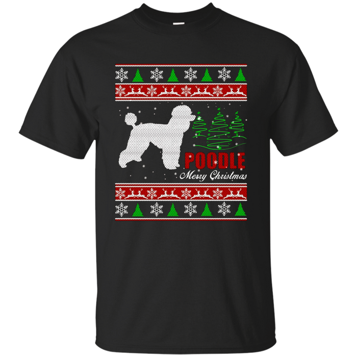 Poodle Sweater Ugly Christmas Gift Holiday T-shirt