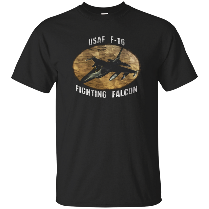 AIR FORCE F-16 FIGHTING FALCON DISTRESSED T-SHIRT
