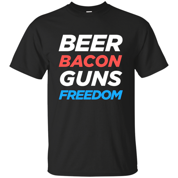 Beer Bacon Guns And Freedom T Shirt Best 4th of July Tshirt