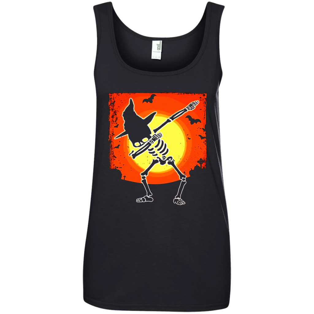 Dabbing Skeleton T-shirt Witch Hat Skull Halloween Shirt