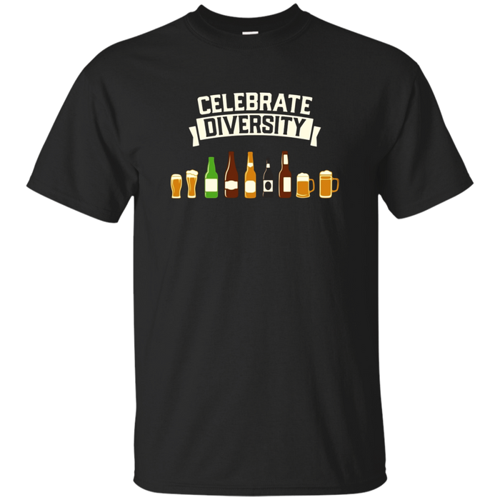 Celebrate Diversity - Beer Drinking Graphic T-Shirt