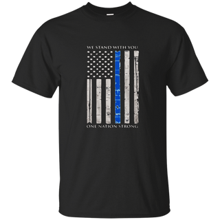Thin blue line We stand with you shirt