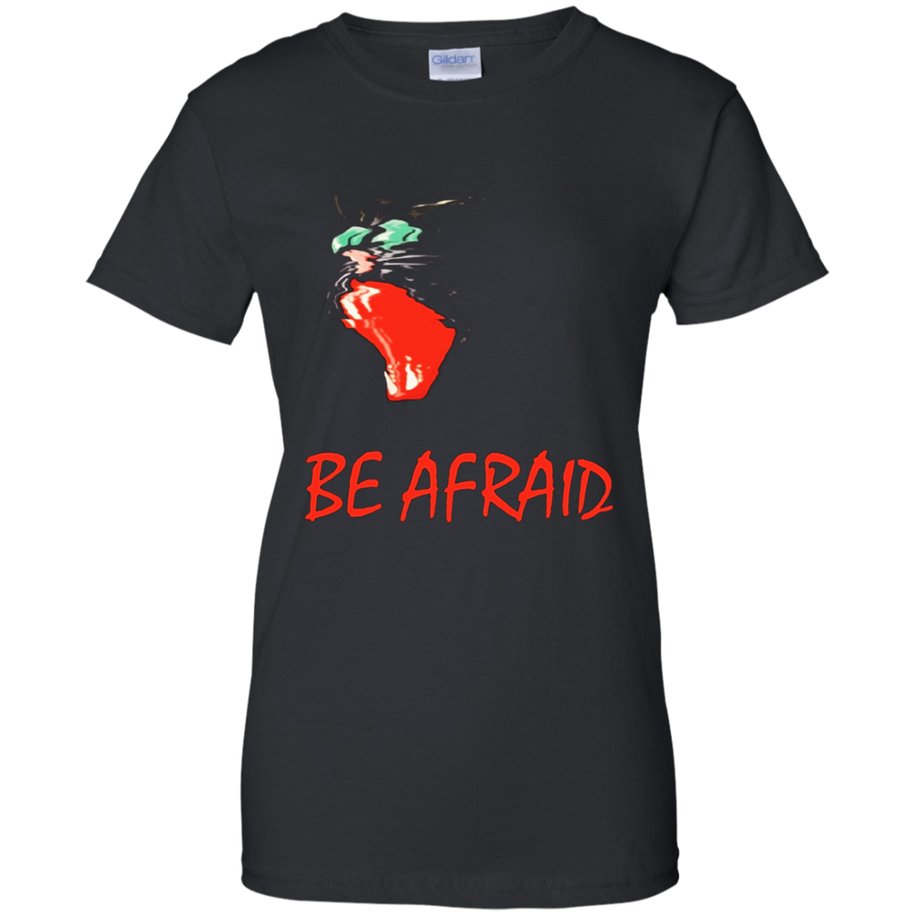 Halloween T Shirt Scary cat saying be afraid