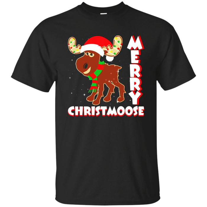 Merry Christmoose T-Shirt - Moose Pun Funny Christmas Shirt